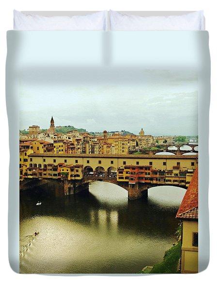 Ponte Vecchio 2 Duvet Cover by Ellen Henneke