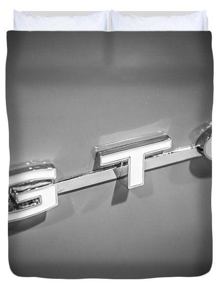 Pontiac Gto Emblem Duvet Cover by Paul Velgos