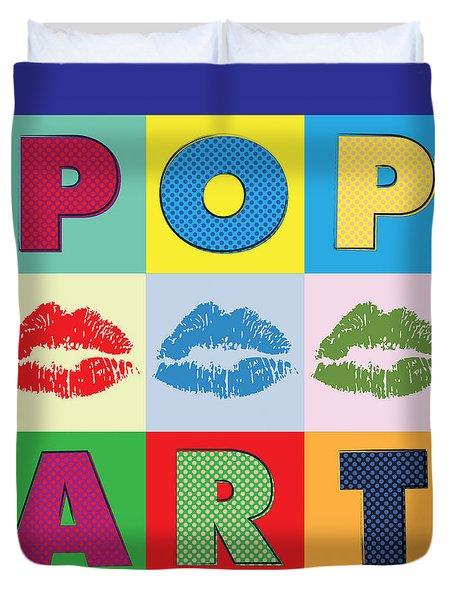 Pop Art Lips Duvet Cover by Gary Grayson