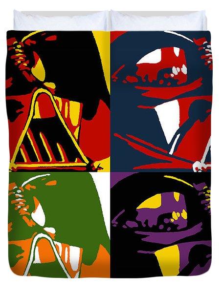Pop Art Vader Duvet Cover by Dale Loos Jr