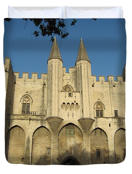 Popes Palace In Avignon Duvet Cover by Pema Hou