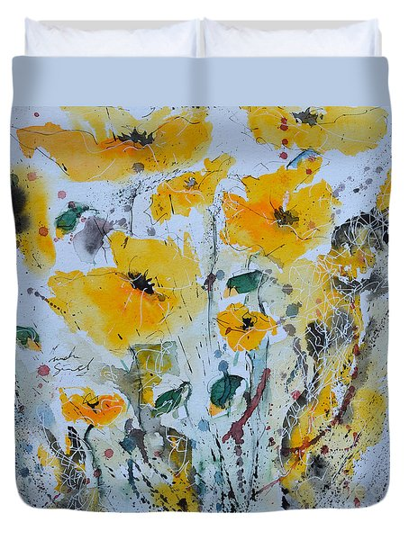 Poppies 03 Duvet Cover by Ismeta Gruenwald