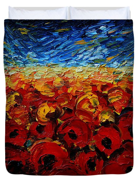 Poppies 2 Duvet Cover by Mona Edulesco