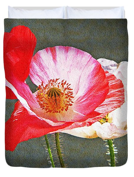 Poppies  Duvet Cover by Chris Berry