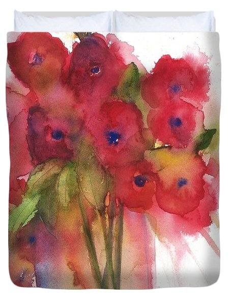 Poppies Duvet Cover by Sherry Harradence