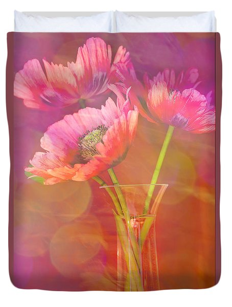 Poppy Passion Duvet Cover by Jan Bickerton