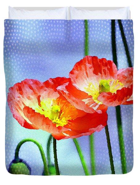 Poppy Series - Garden Views Duvet Cover by Moon Stumpp