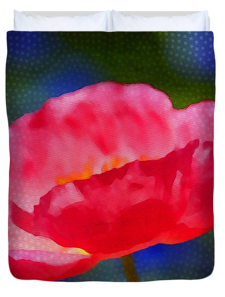 Poppy Series - Touch Duvet Cover by Moon Stumpp