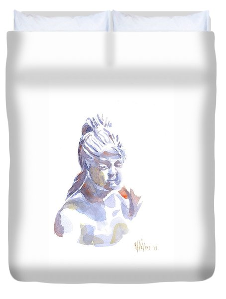 Porcelain Maiden In Watercolor Duvet Cover by Kip DeVore
