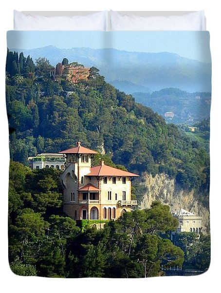 Portofino Coastline Duvet Cover by Carla Parris