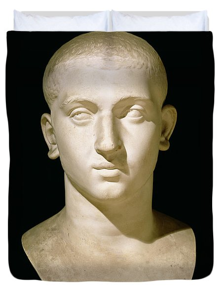 Portrait Bust Of Emperor Severus Alexander Duvet Cover by Anonymous