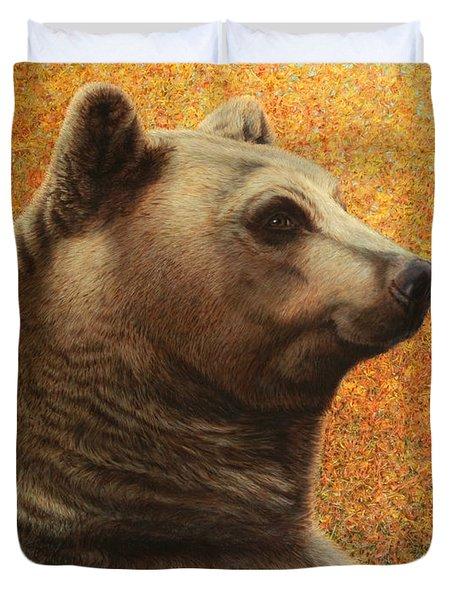 Portrait of a Bear Duvet Cover by James W Johnson