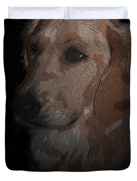 Portrait Of A Golden Duvet Cover by Bianca Nadeau