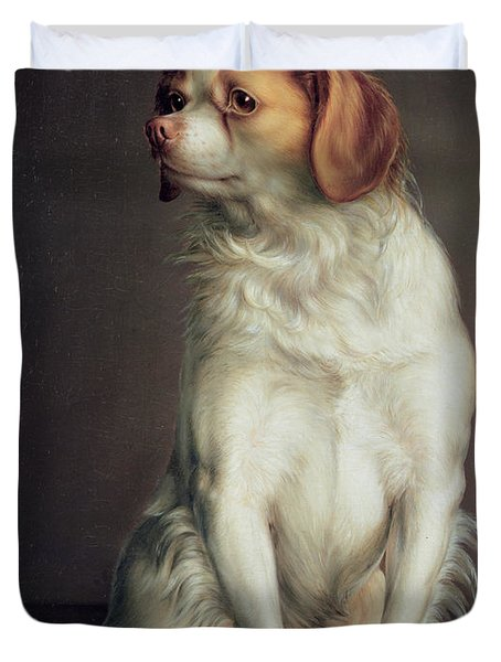 Portrait Of A King Charles Spaniel Duvet Cover by Louis Leopold Boilly