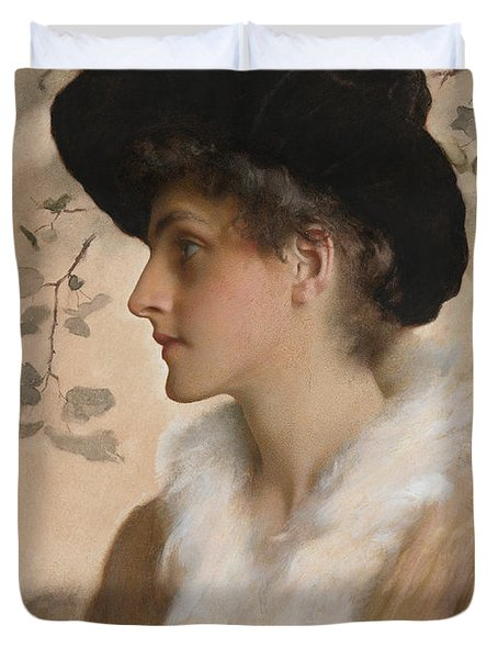Portrait Of A Lady 1888 Duvet Cover by George Henry Boughton