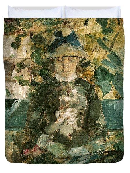 Portrait Of Adele Tapie De Celeyran Duvet Cover by Henri de Toulouse-Lautrec