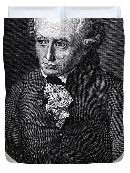 Portrait Of Emmanuel Kant  Duvet Cover by German School