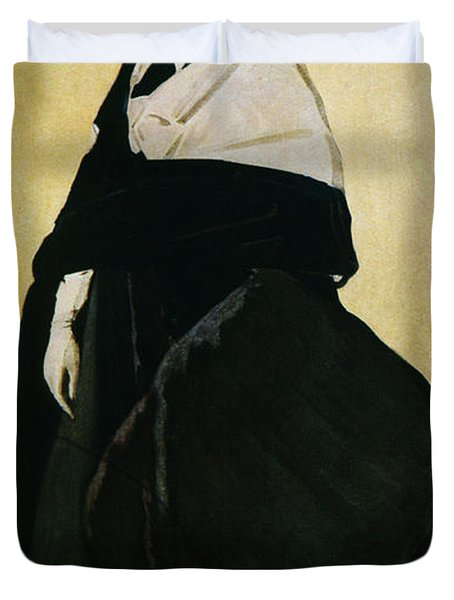 Portrait Of Ida Lvovna Rubinstein Duvet Cover by Leon Bakst