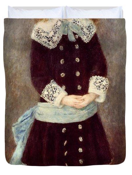 Portrait Of Martha Berard Duvet Cover by Pierre-Auguste Renoir