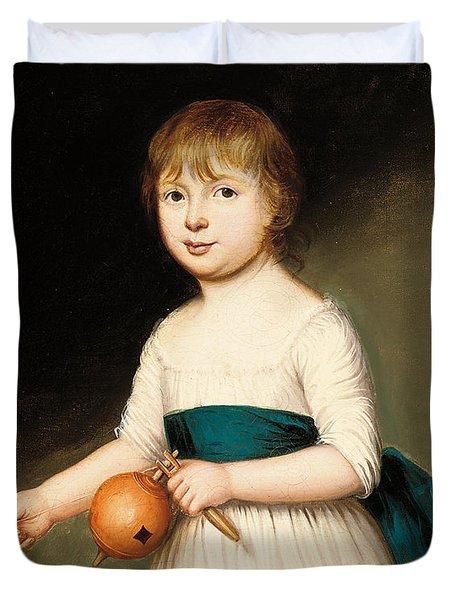 Portrait Of Thomas Allason Duvet Cover by Francis Alleyne