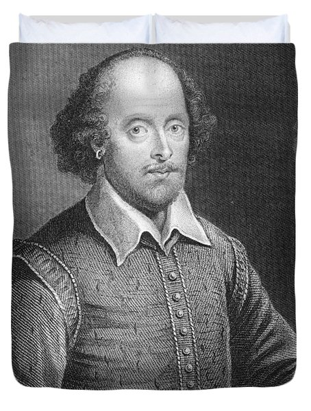 Portrait Of William Shakespeare Duvet Cover by English School