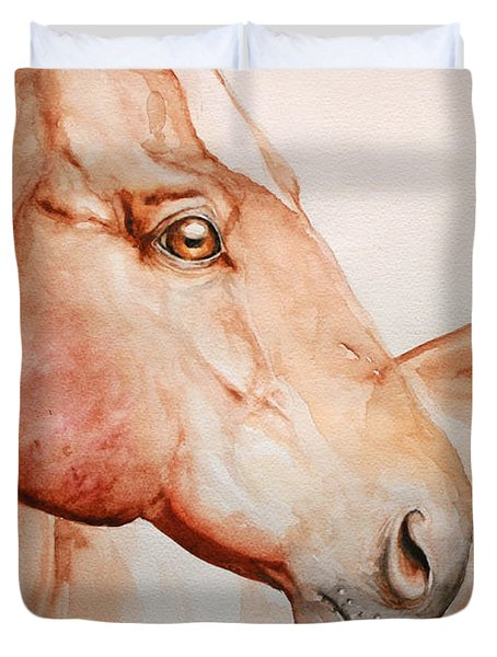 Posing Duvet Cover by Tamer and Cindy Elsharouni