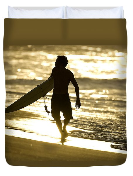 Post Surf Gold Duvet Cover by Sean Davey