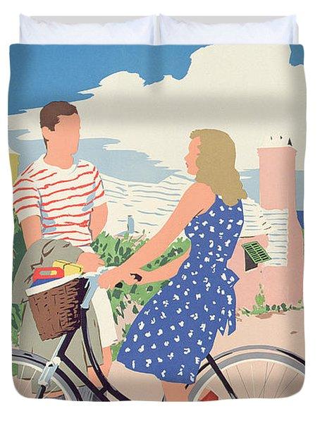 Poster Advertising Bermuda Duvet Cover by Adolph Treidler