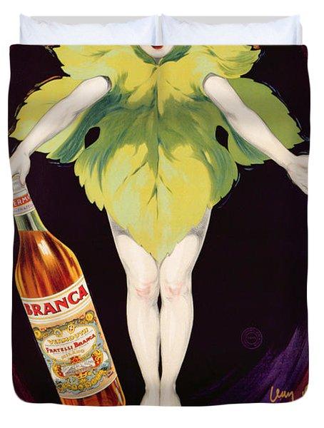 Poster Advertising Fratelli Branca Vermouth Duvet Cover by Jean DYlen