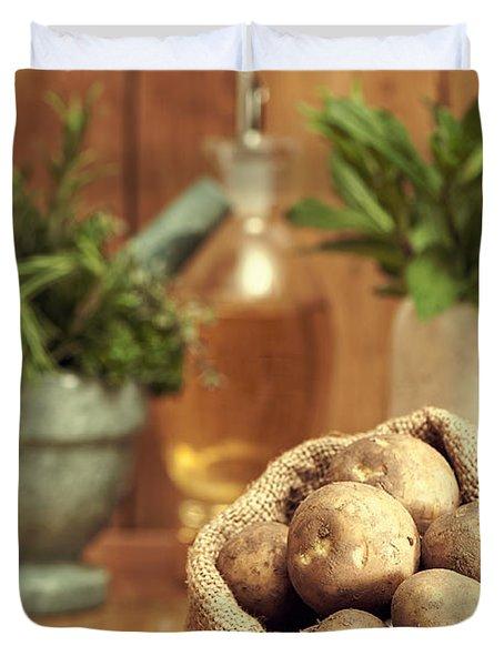 Potatoes Duvet Cover by Amanda Elwell