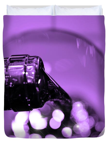 Pour Wine Duvet Cover by Toppart Sweden