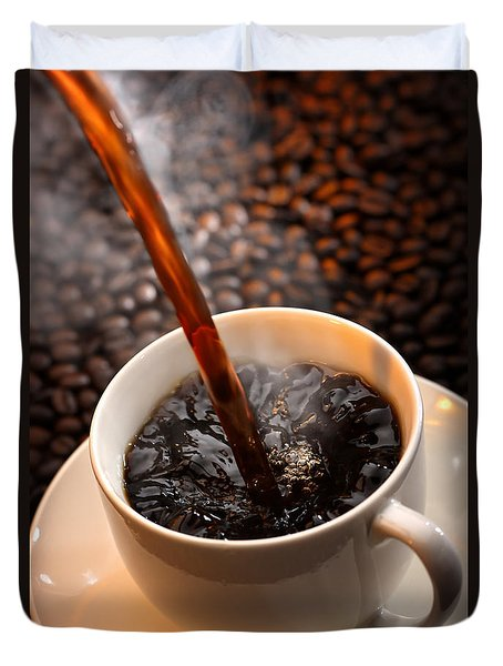 Pouring Coffee Duvet Cover by Johan Swanepoel