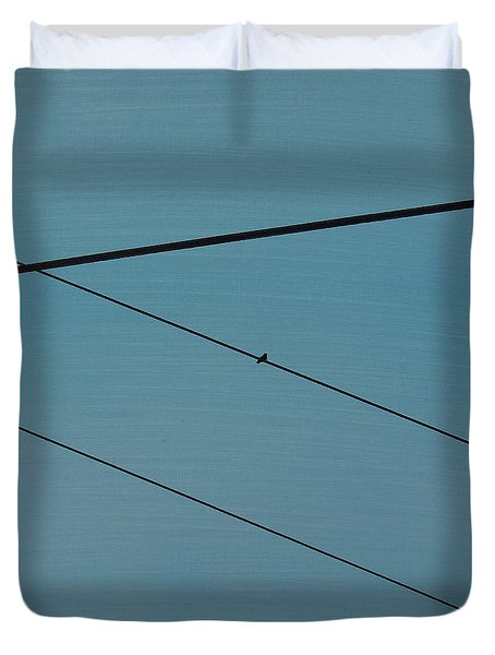 Power Lines 03 Duvet Cover by Ronda Stephens