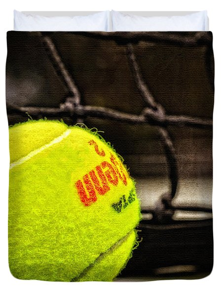 Practice - Tennis Ball By William Patrick and Sharon Cummings Duvet Cover by Sharon Cummings