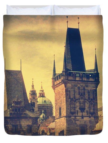 Praha Duvet Cover by Taylan Soyturk