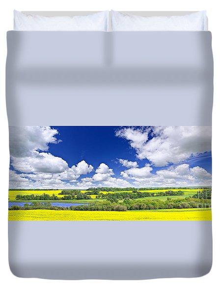 Prairie Panorama In Saskatchewan Duvet Cover by Elena Elisseeva