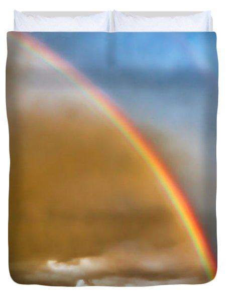 Prairie Rainbow Duvet Cover by Ellen Heaverlo