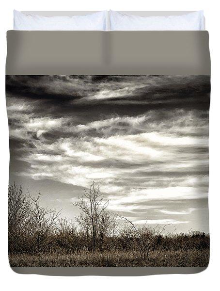 Prairie Winter Sky Duvet Cover by Joan Carroll