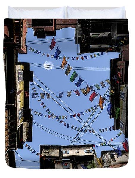 Prayer Flags Duvet Cover by Cynthia Decker