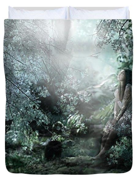 Praying Angel Duvet Cover by Kume Bryant