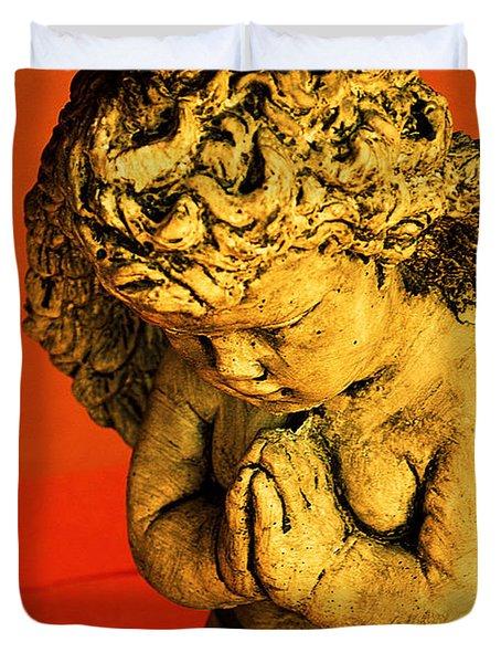 Praying Angel Duvet Cover by Susanne Van Hulst