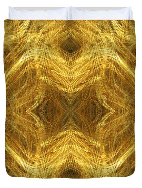 Precious Metal 3 Ocean Waves Panorama Duvet Cover by Andee Design