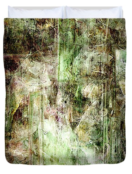Precipice - Abstract Art Duvet Cover by Jaison Cianelli