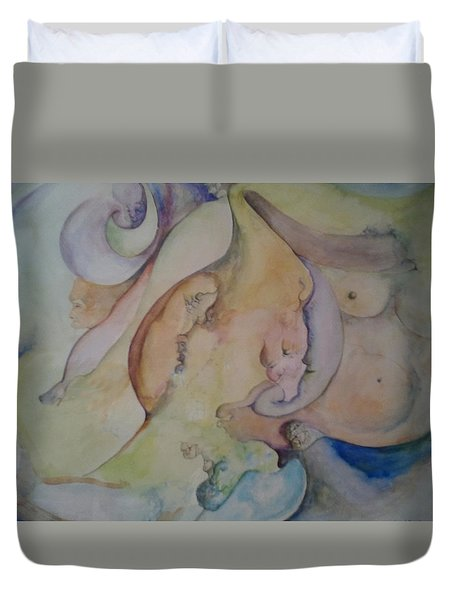 Pregnant With Desire One Duvet Cover by Lynn Buettner