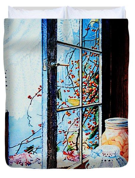 Preserving The Harvest Duvet Cover by Hanne Lore Koehler