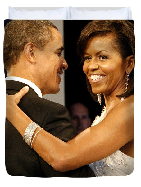 President and Michelle Obama Duvet Cover by Official Government Photograph