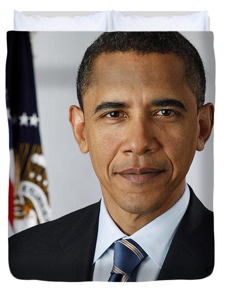 President Barack Obama Duvet Cover by Pete Souza
