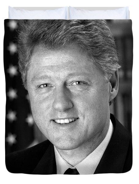 President Bill Clinton Duvet Cover by War Is Hell Store