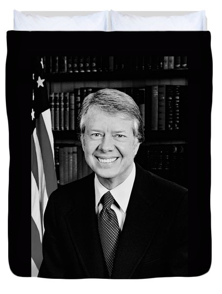 President Jimmy Carter  Duvet Cover by War Is Hell Store