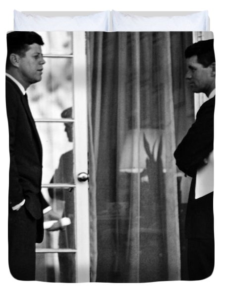 President John Kennedy And Robert Kennedy Duvet Cover by War Is Hell Store